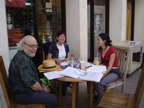 the first meeting of the caltech poetry club was small but very poetic a and amazing fun rick wilson professor of mathematics at caltech kaths husband caltech recreation room