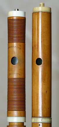19th century English simple system flutes
